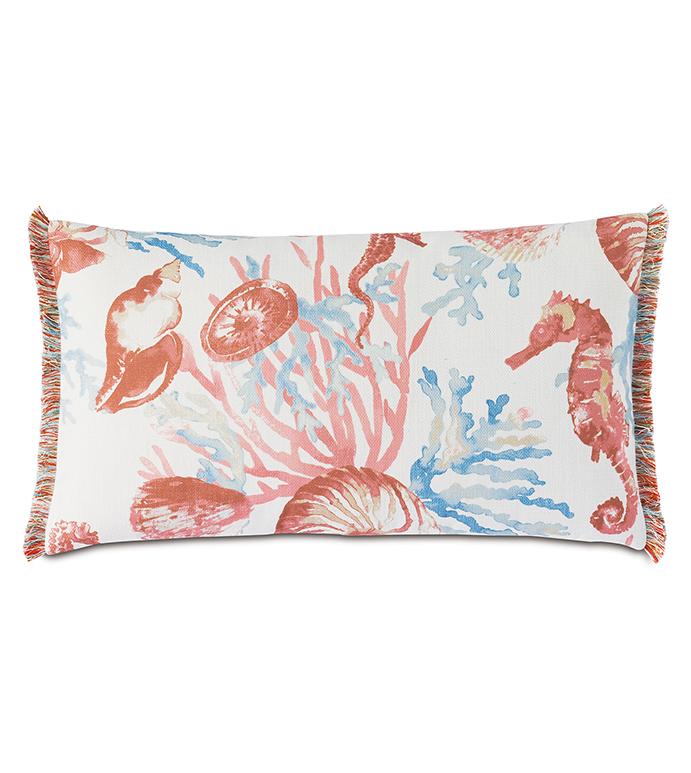 Bimini Coral Reef Decorative Pillow