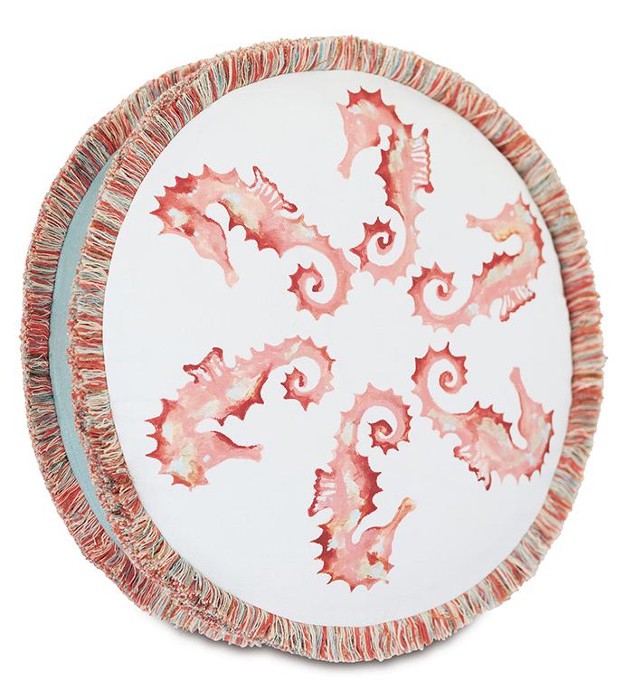 Bimini Seahorse Decorative Pillow