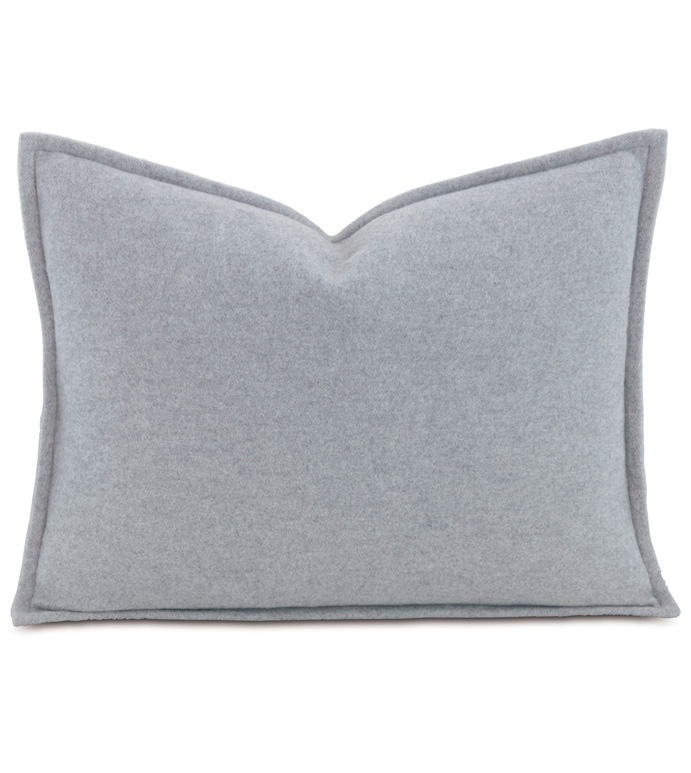 Brera Flannel Boudoir Sham In Gray - ,