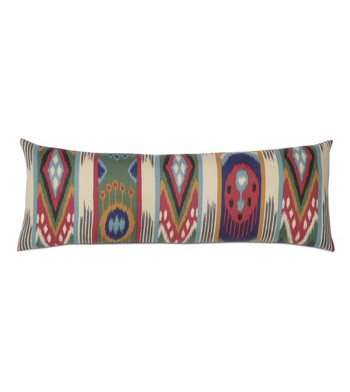 Akela Ikat Decorative Pillow - ,