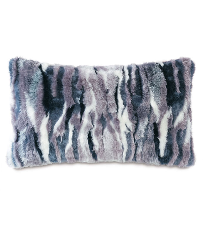 Tabitha Faux Fur Decorative Pillow - ,FUR PILLOW, FAUX FUR, GLAMOROUS PILLOW, FUR DECORATIVE PILLOW,PURPLE PILLOW, PURPLE FUR, PURPLE DECORATIVE PILLOW,MULTICOLORED FUR,FAUX FUR PILLOW, BLUE FUR, BOLSTER,FUR BOLSTER