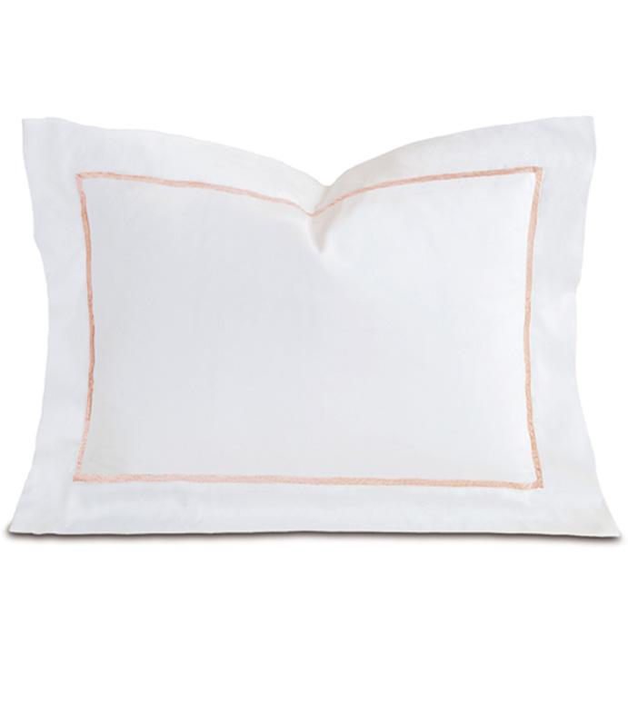Linea Velvet Ribbon Boudoir In White & Nectar - ,