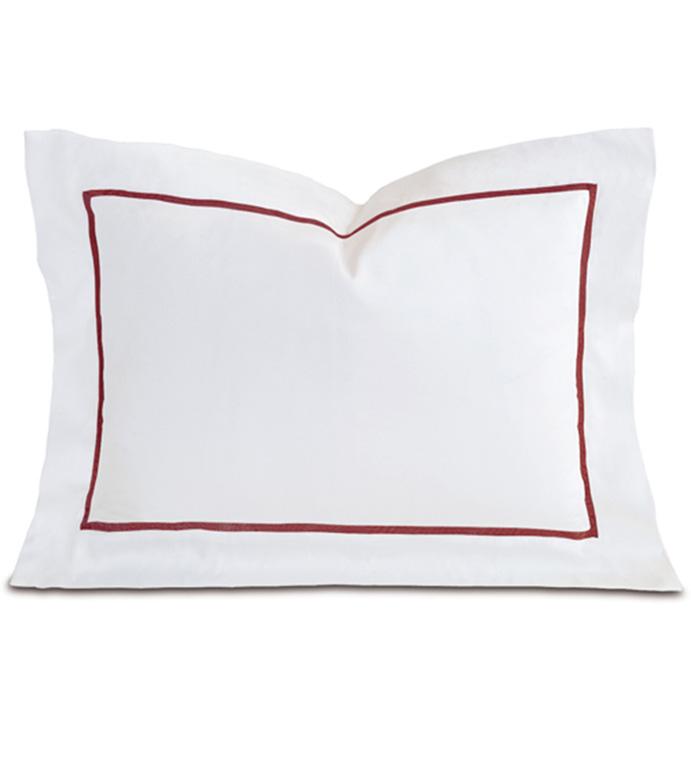 Linea Velvet Ribbon Boudoir In White & Shiraz - ,