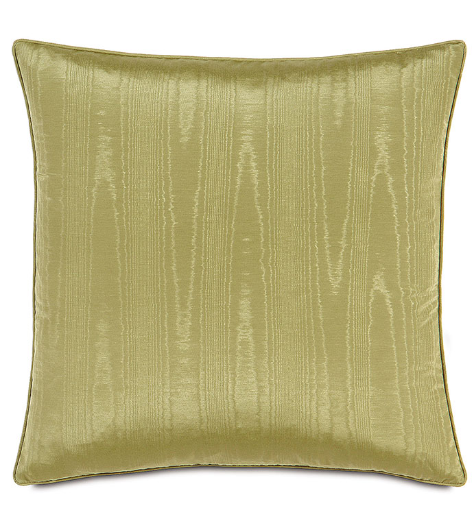 Pearl Apple With Sm Welt - CHARTREUSE PILLOW,CHARTREUSE SILK,SHINY GREEN PILLOW,FAUX SILK,REVERSIBLE GREEN PILLOW,LIME GREEN,CHARTREUSE,CONTEMPORARY,CASUAL,SOLID GREEN,SHINY,METALLIC,JEWEL TONED PILLOW