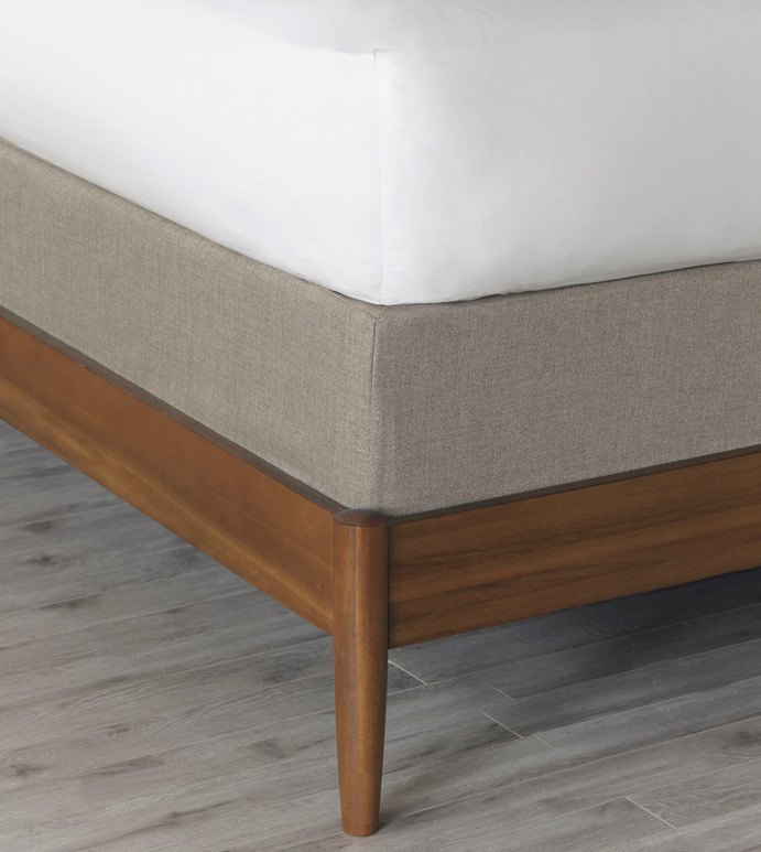 Wicklow Heather Box Spring Cover - BOX SPRING COVER,GREY,SOLID COLOR,NONDIRECTIONAL,CONTEMPORARY,TRANSITIONAL,BEDDING,DECORATIVE,DECKING BORDER,GUSSET,ELASTIC BAND,SNUG FIT,HIGH QUALITY FABRIC,POLYESTER