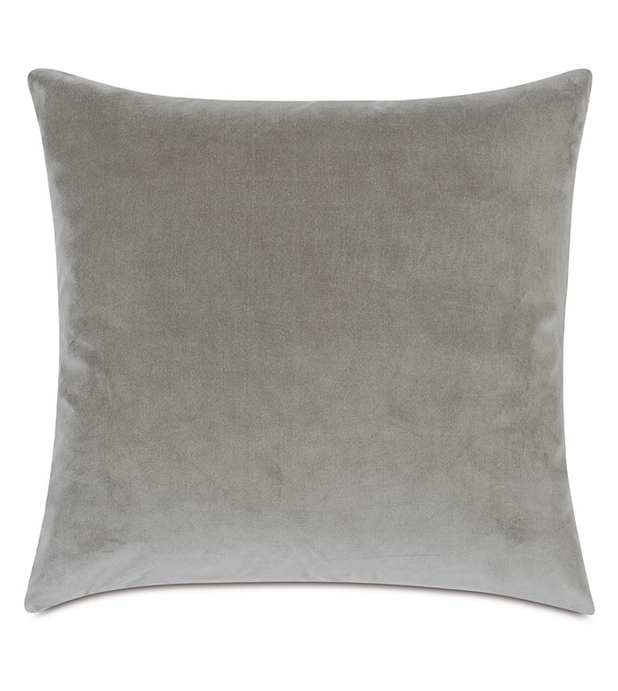 Plush Velvet Decorative Pillow In Dove - VELVET,GRAY VELVET,VELVET PILLOW,DECORATIVE PILLOW,THROW PILLOW,ACCENT PILLOW,GRAY VELVET THROW PILLOW,100% COTTON VELVET, DRY VELVET, GRAY 100% COTTON VELVET,PILLOW,GRAY PILLOW,