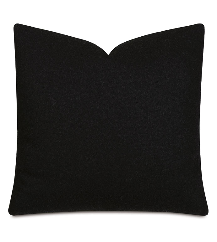 Vincent Textured Decorative Pillow In Carbon - ITALIAN FABRIC,