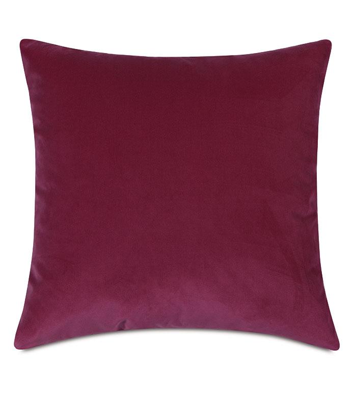 Plush Velvet Decorative Pillow In Raspberry - VELVET,pink VELVET,VELVET PILLOW,DECORATIVE PILLOW,THROW PILLOW,ACCENT PILLOW,pink VELVET THROW PILLOW,100% COTTON VELVET, DRY VELVET, pink 100% COTTON VELVET,PILLOW,pink PILLOW,