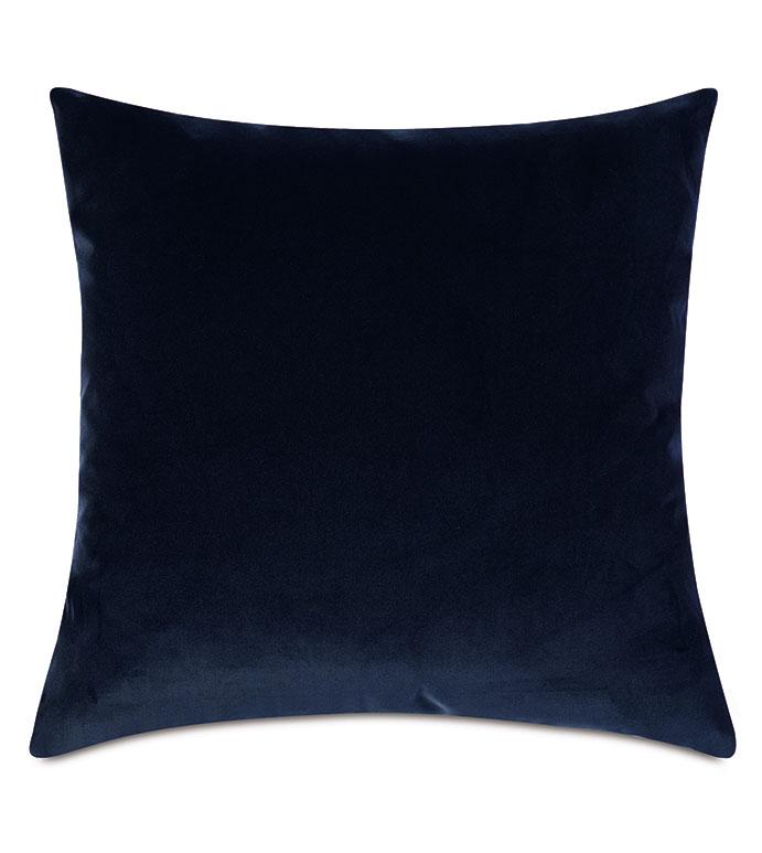Plush Velvet Decorative Pillow In Navy - VELVET,BLUE VELVET,VELVET PILLOW,DECORATIVE PILLOW,THROW PILLOW,ACCENT PILLOW,BLUE VELVET THROW PILLOW,100% COTTON VELVET, DRY VELVET, BLUE 100% COTTON VELVET,PILLOW,BLUE PILLOW,