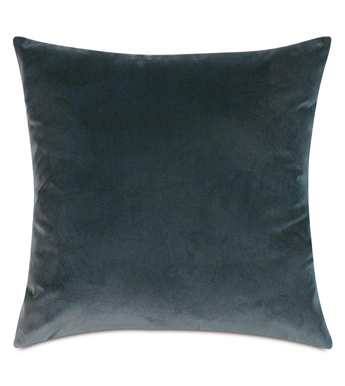 Plush Velvet Decorative Pillow In Ocean - VELVET,BLUE VELVET,VELVET PILLOW,DECORATIVE PILLOW,THROW PILLOW,ACCENT PILLOW,BLUE VELVET THROW PILLOW,100% COTTON VELVET, DRY VELVET, BLUE 100% COTTON VELVET,PILLOW,BLUE PILLOW,