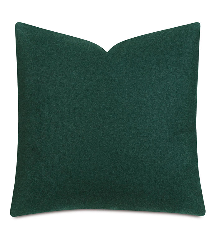 Vincent Textured Decorative Pillow In Forest - wool,heathered wool,textured,cozy,pillow,decorative pillow,accent pillow,throw pillow,green,green pillow,green wool,green textured pillow,cozy green pillow,22x22,square,made in usa