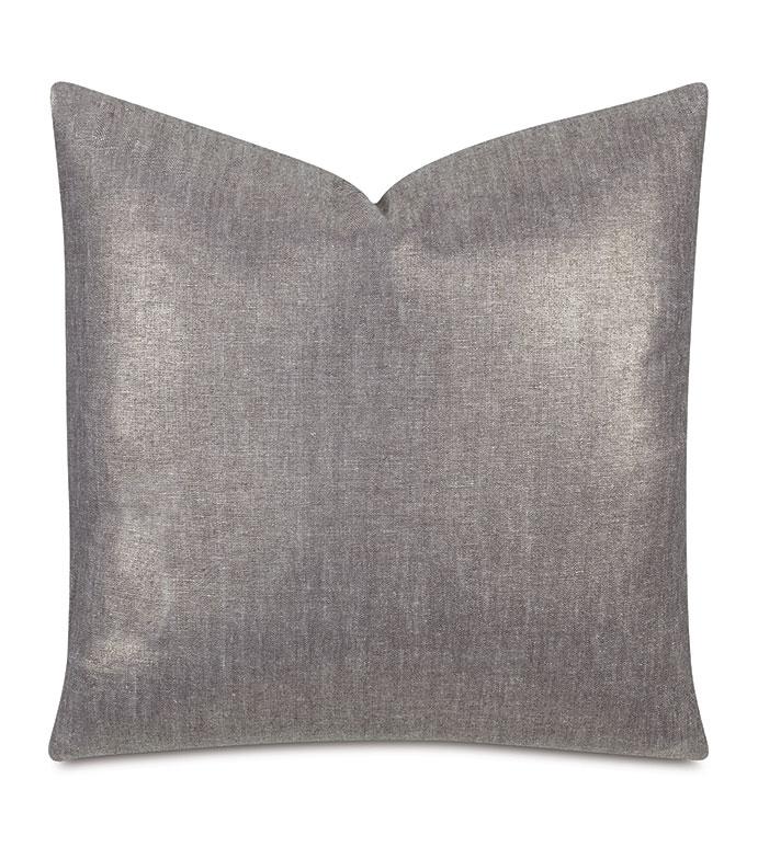 Leonis Metallic Decorative Pillow In Gold