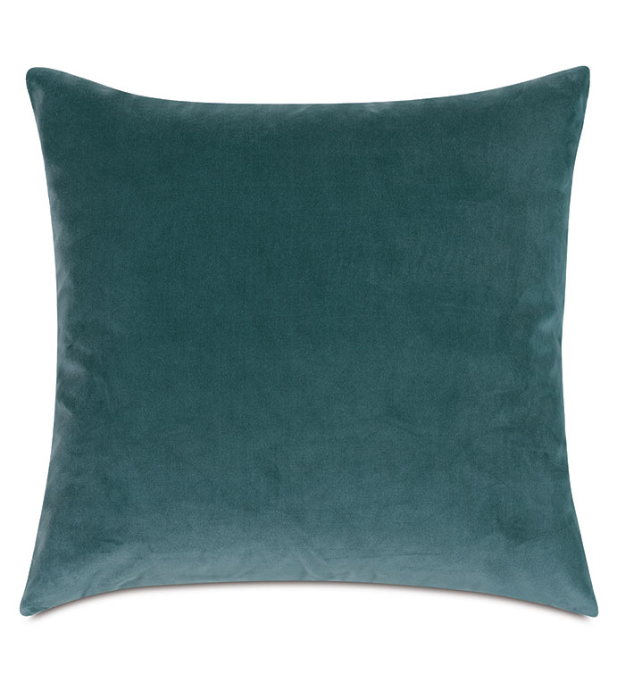 Uma Velvet Decorative Pillow In Teal - ,22X22 PILLOW,LARGE PILLOW,DECORATIVE PILLOW,VELVET PILLOW,TEAL PILLOW,TEAL VELVET,BLUE PILLOW,BLUE VELVET,VELVET THROW PILLOW,LUXURY VELVET,LUXURY PILLOW,TEAL DECOR,AQUA PILLOW,