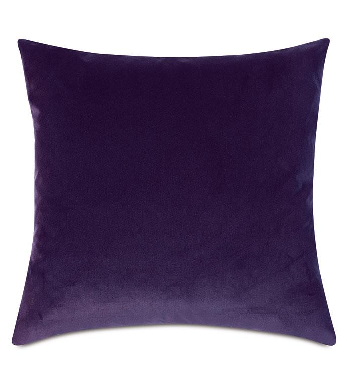 Uma Velvet Decorative Pillow In Purple - ,22X22 PILLOW,LARGE PILLOW,SQUARE PILLOW,VELVET PILLOW,VELVET THROW PILLOW,PURPLE PILLOW,PURPLE VELVET,LUXURY VELVET,VELVET FABRIC,PURPLE DECOR,PURPLE THROW PILLOW,LUXURY VELVET,