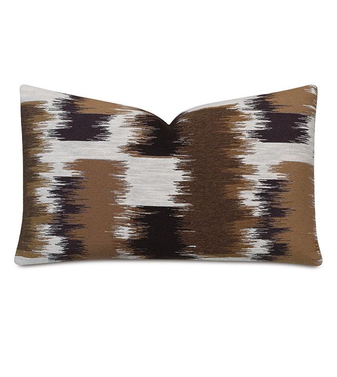 Shea Woven Decorative Pillow In Chocolate - BROWN,DECORATIVE PILLOW,BROWN PILLOW,ABSTRACT,ABSTRACT PILLOW,MOUNTAIN,RUSTIC LODGE,CHOCOLATE BROWN,MADE IN USA,ACCENT PILLOW,BROWN ACCENT PILLOW,LODGE,13X22,RECTANGULAR,PILLOW,