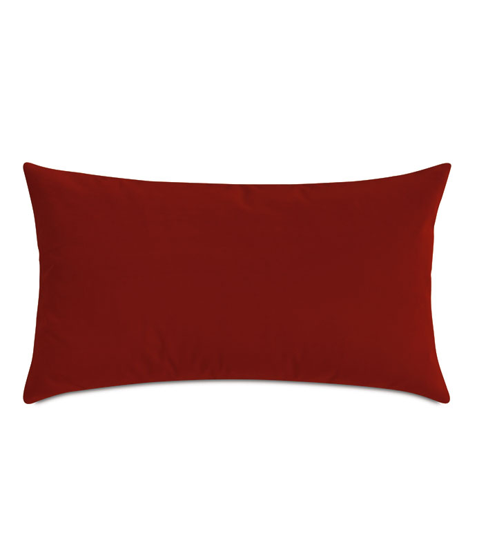 Uma Velvet Decorative Pillow In Rust - ,15X26 PILLOW,LARGE BOLSTER,VELVET BOLSTER,RED BOLSTER,VELVET PILLOW,RED VELVET,RUST VELVET,RUST PILLOW,TERRACOTTA PILLOW,VELVET PILLOW,VELVET THROW PILLOW,RUST BOLSTER,RUST COLOR,