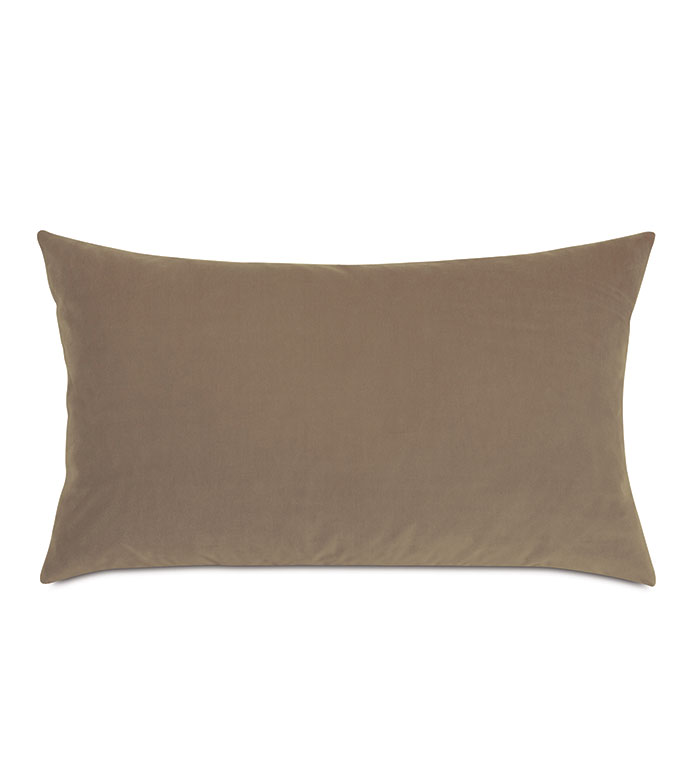 Uma Velvet Decorative Pillow In Khaki - ,15X26 PILLOW,LARGE BOLSTER,VELVET BOLSTER,NEUTRAL BOLSTER,NEUTRAL VELVET,BEIGE VELVET,KHAKI VELVET,VELVET PILLOW,NEUTRAL PILLOW,BEIGE PILLOW,LUXURY VELVET,LUXURY PILLOW,