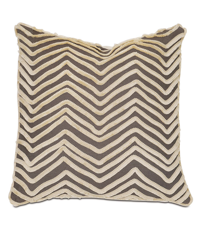 Breeze Clay With Mini Brush Fringe - PILLOW,THROW PILLOW,CONTEMPORARY PILLOW,TOSS CUSHION,GEOMETRIC PILLOW,WHIMSICAL PILLOW,BRUSH FRINGE PILLOW,CELERIE KEMBLE PILLOW COLLECTION,ZIPPER CLOSURE PILLOW,SQUARE PILLOW