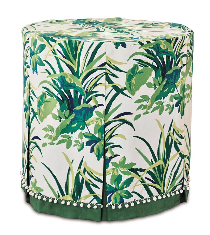 Amazonia Palm Table Cloth - table cloth,skirted table cloth,tropical table cloth,celerie kemble table cloth,customizable table cloth,green table cloth,foliage table cloth,whimsical table top,table top