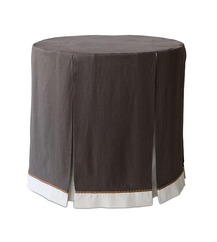 Breeze Clay Table Cloth - table cloth,skirted table cloth,brown table cloth,celerie kemble table cloth,customizable table cloth,chocolate table cloth,traditional table cloth,table top,pleated table cloth