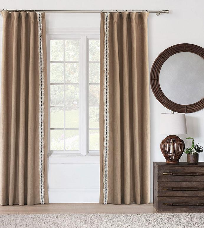 Breeze Sand Curtain Panel (Left)