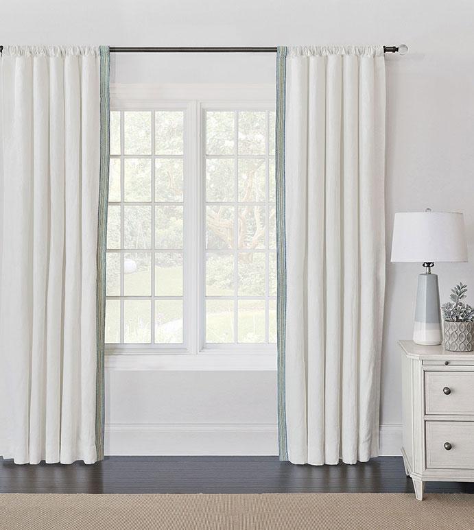 Breeze Shell Curtain Panel Left