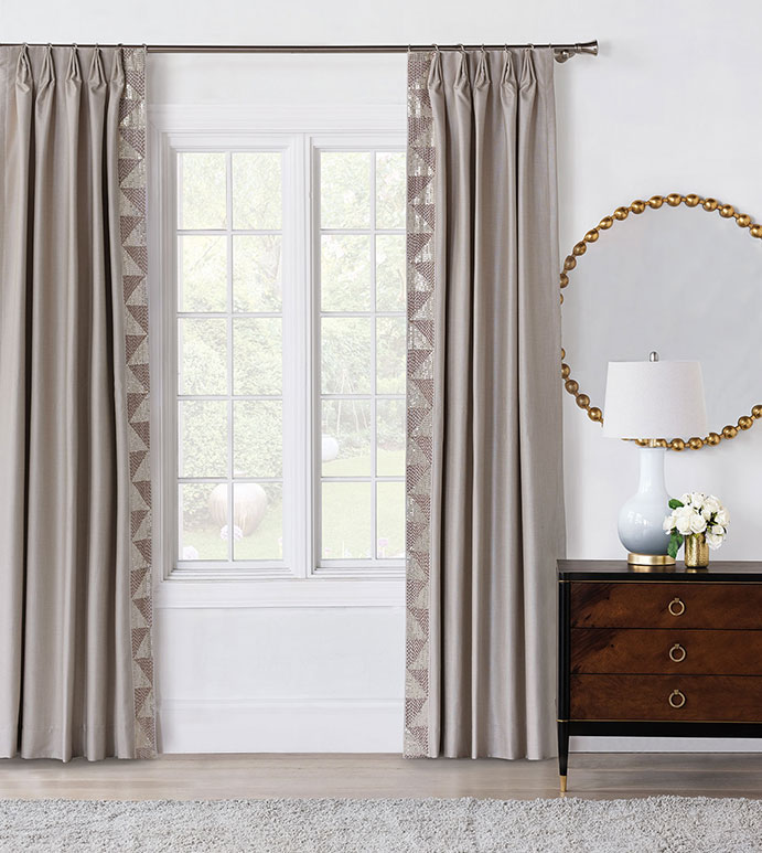 Teryn Sequined Curtain Panel (Left)