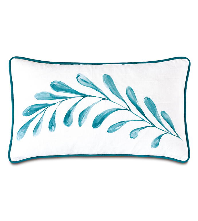 Clementine Handpainted Decorative Pillow