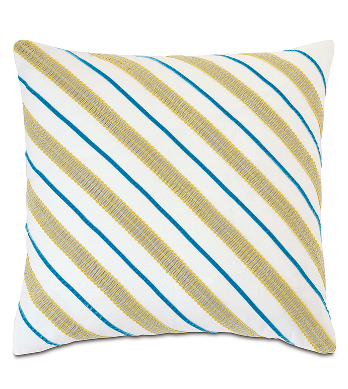 Clementine Diagonal Trim Decorative Pillow