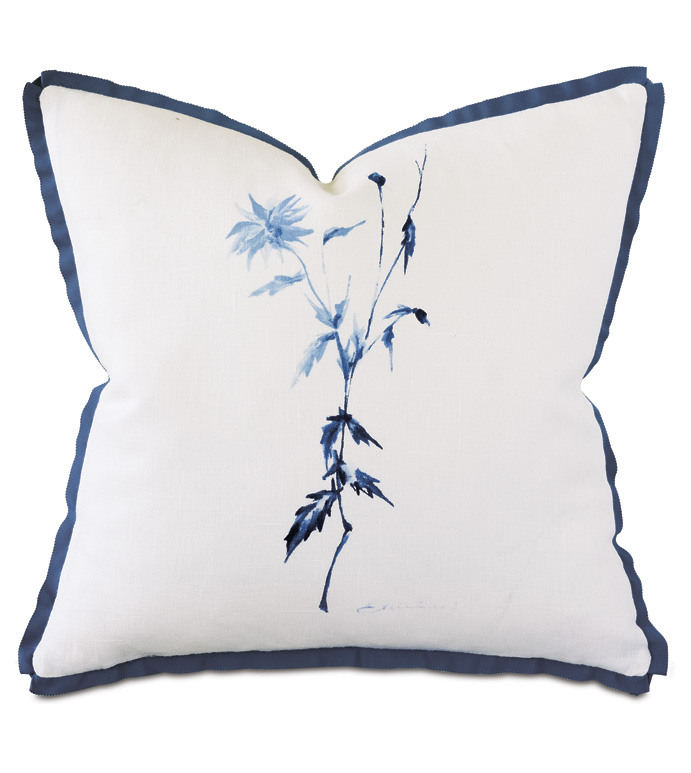 Capri Handpainted Decorative Pillow