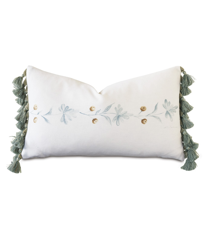 Stockholm Handpainted Decorative Pillow