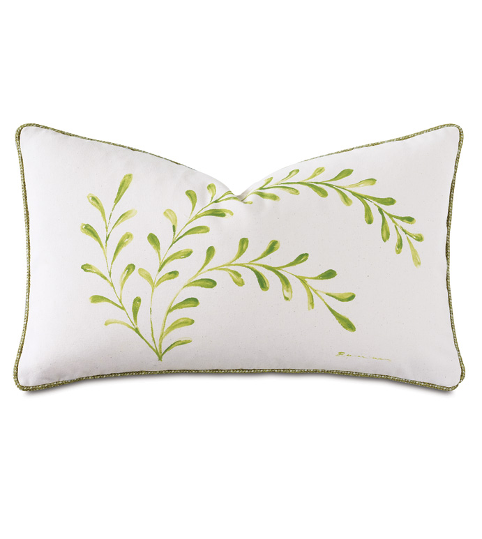 Dublin Handpainted Decorative Pillow