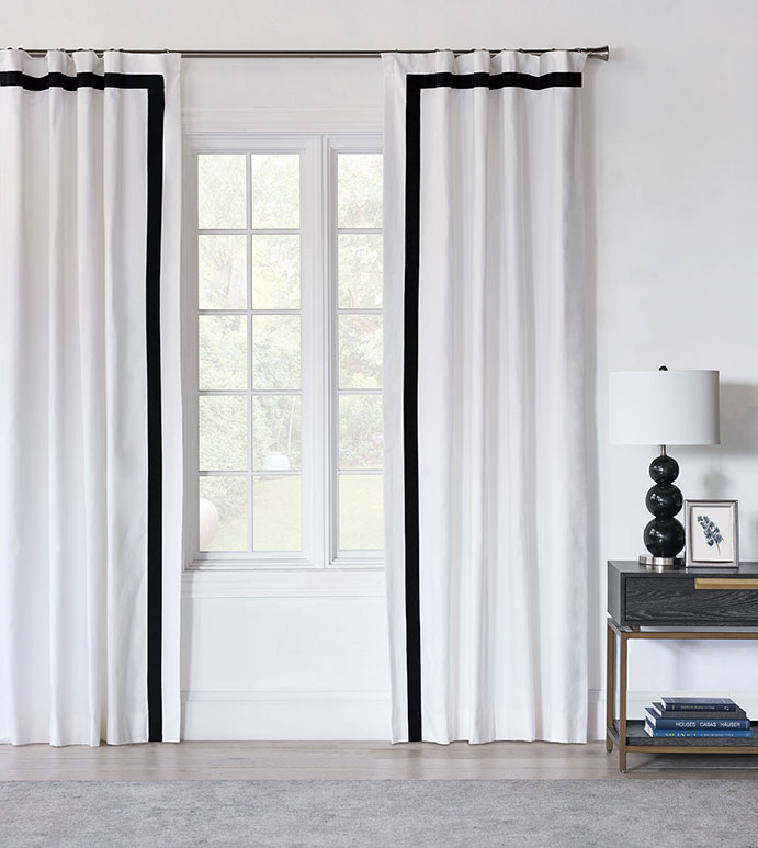 Baldwin White Curtain Panel