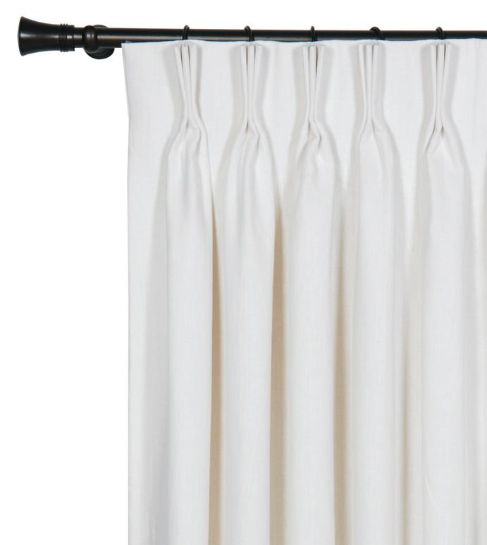 Leonara White Curtain Panel