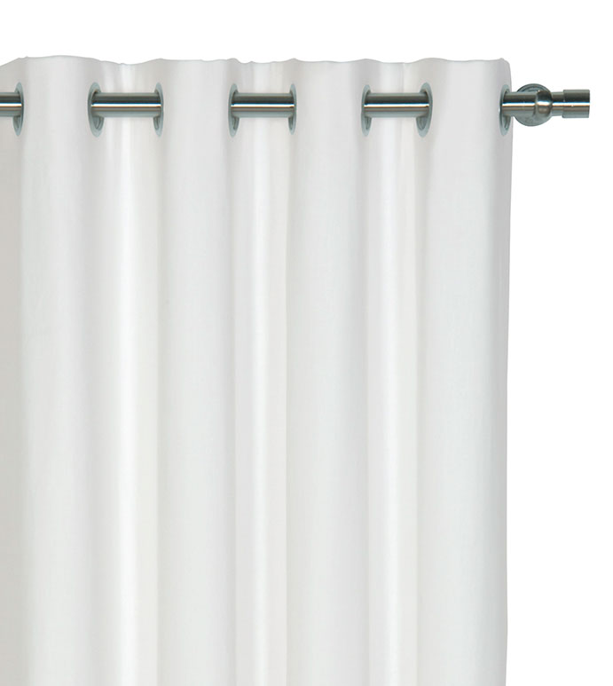 Breeze White Curtain Panel - ,