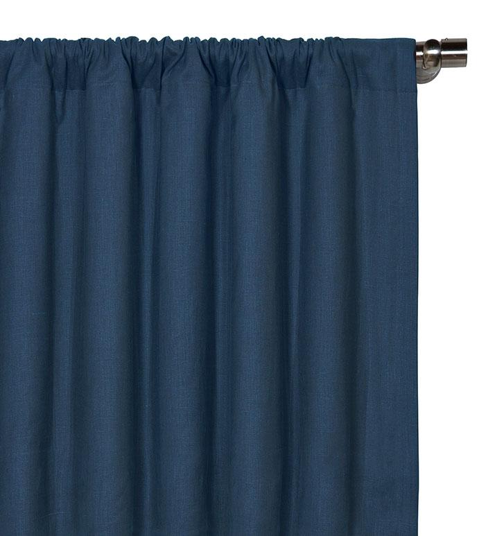 Breeze Indigo Curtain Panel - ,
