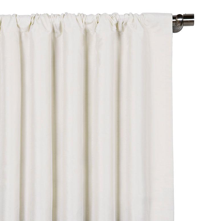 Edris White Curtain Panel - ,