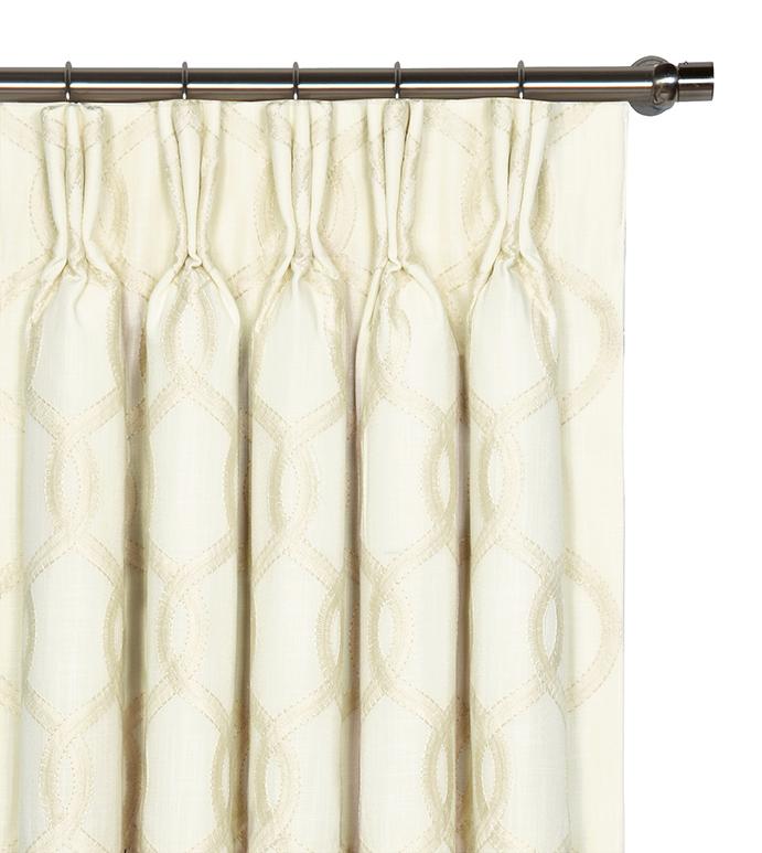 Gresham Snow Curtain Panel - ,