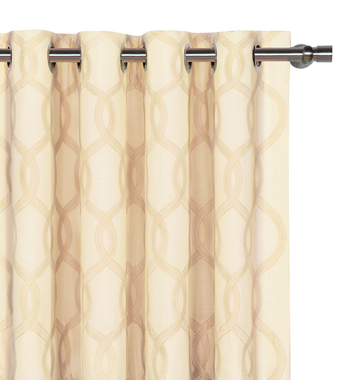 Gresham Cream Curtain Panel - ,