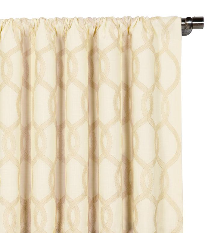 Gresham Cream Curtain Panel - ,