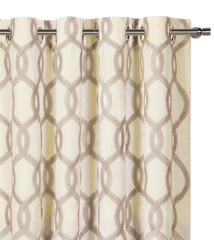 Gresham Suede Curtain Panel - ,