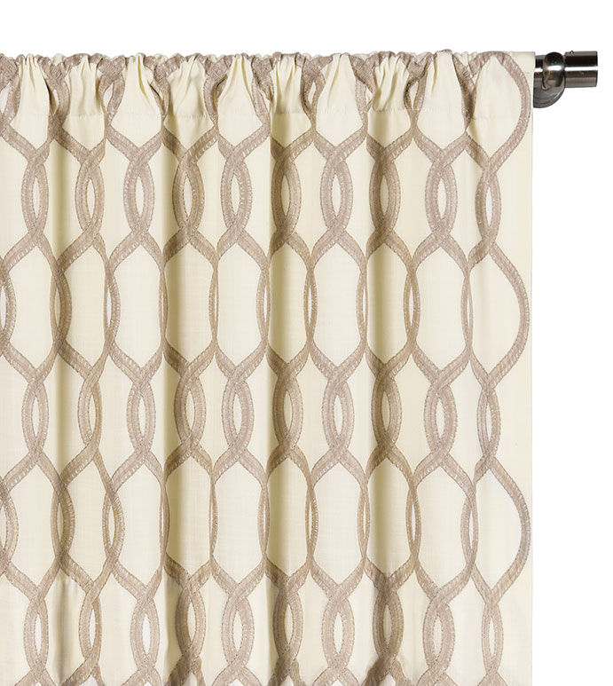 Gresham Suede Curtain Panel - ,