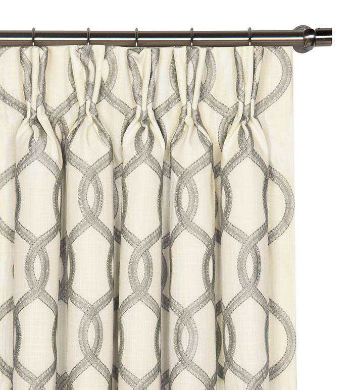 Gresham Gray Curtain Panel - ,