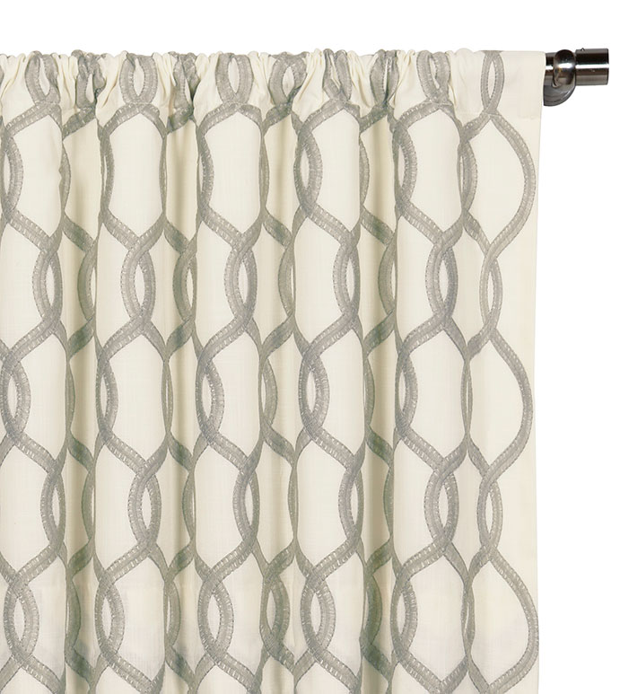 Gresham Gray Curtain Panel - ,