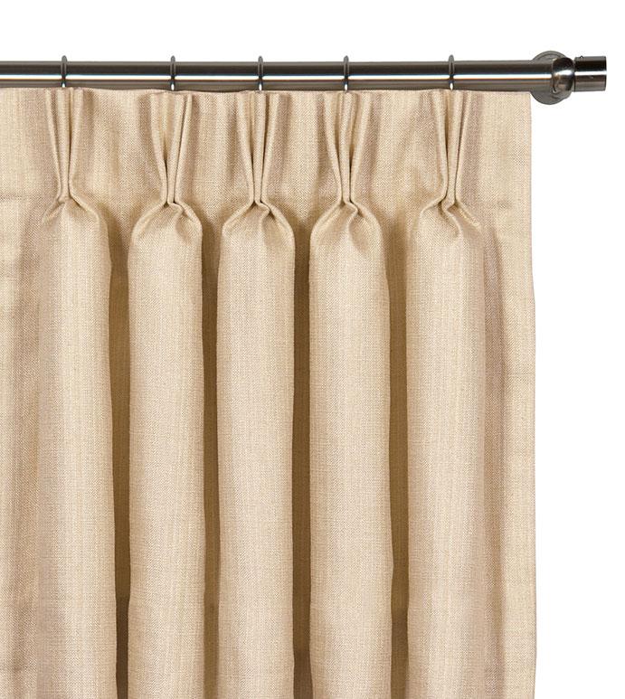 Meridian Cream Curtain Panel - ,
