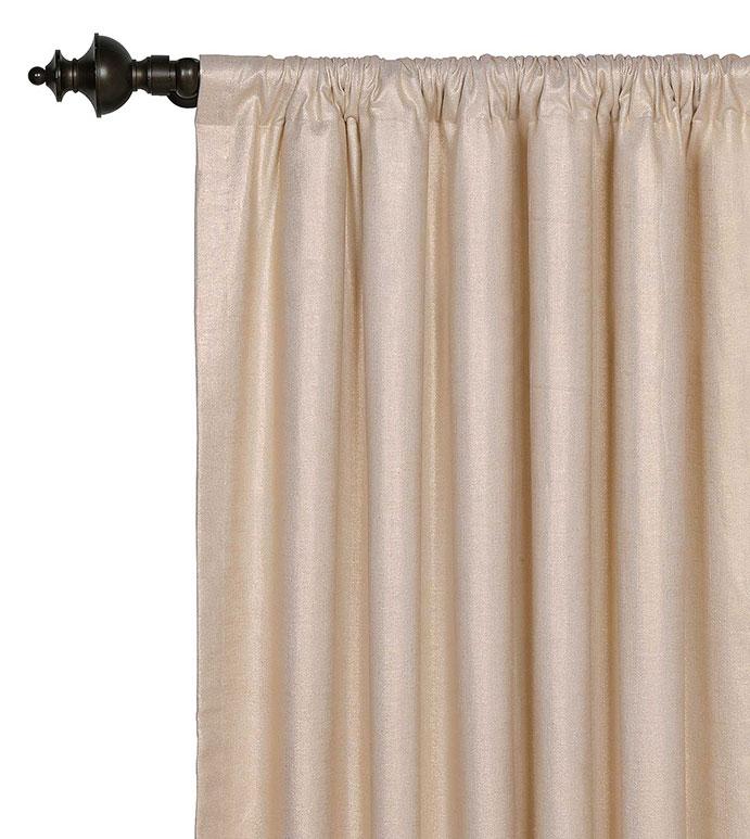 Reflection Gold Curtain Panel - GLAM,SHINY,TAN,GLAMOUR,METALLIC,CONTEMPORARY,ELEGANT,OPULENT,FEMININE,GOLD,LUXURY,CHAMPAGNE,DECORATIVE,HOME DECOR,BEIGE,LUXURY BEDDING,CURTAIN,DRAPE,ROD POCKET,PANEL,DRAPERY,STYLE