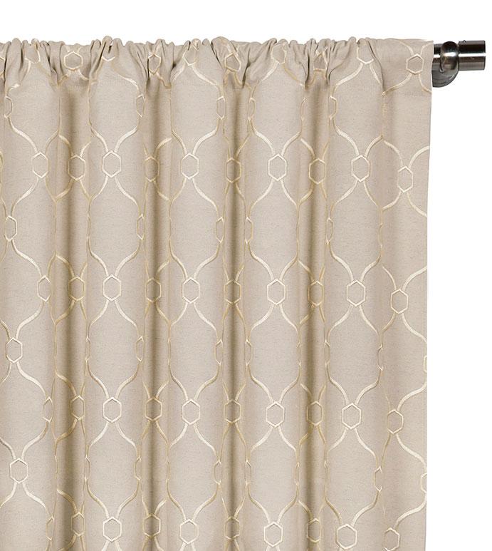 Theodore Linen Curtain Panel - ,
