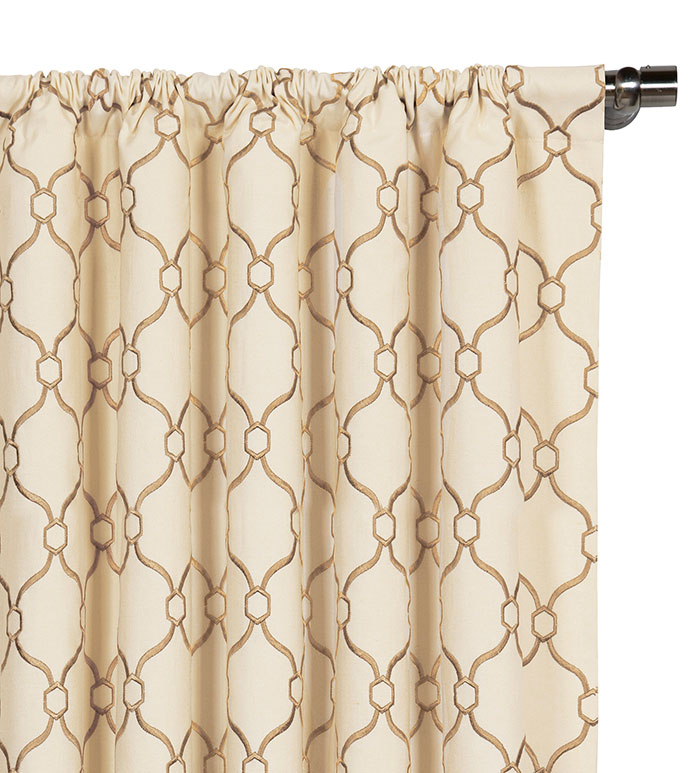 Theodore Biscuit Curtain Panel - ,
