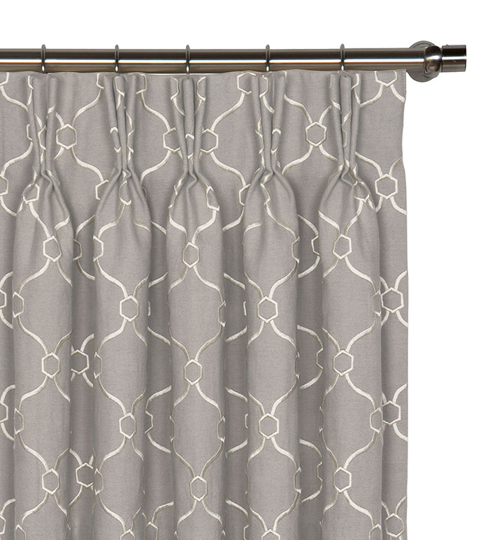 Theodore Silver Curtain Panel - ,