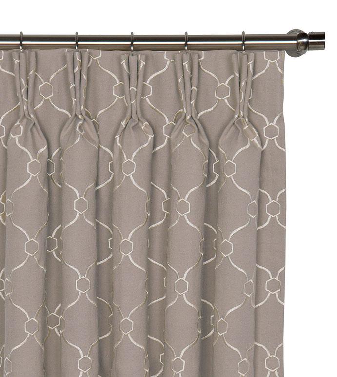 Theodore Buff Curtain Panel - ,